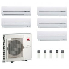 Mitsubishi Electric MXZ-5E102VA - 5 High Wall Units