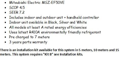 Mitsubishi Electric Zen MSZ-EF50VE