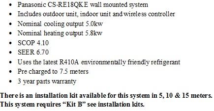 Panasonic wall air conditioner